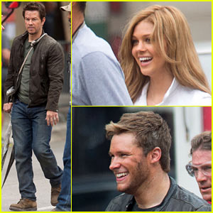 Mark Wahlberg & Nicola Peltz Film 'Transformers 4' with Jack Reynor