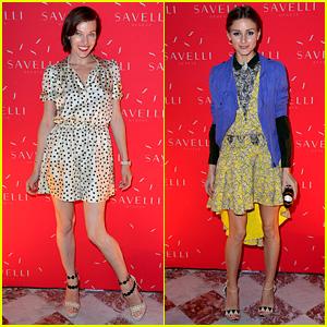 Milla Jovovich & Olivia Palermo: Alessandro Savelli Launch!