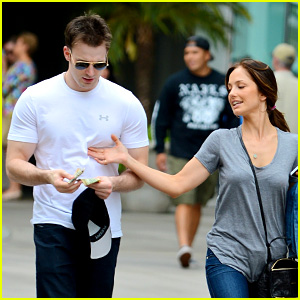 Minka Kelly Grabs Chris Evans' Chest at the Movies!