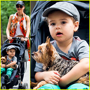 Miranda Kerr: Central Park Morning with Flynn & Frankie!