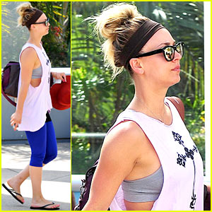 Newly Single Kaley Cuoco Steps Out Solo For Some Gym Time