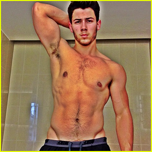 Nick Jonas Goes Shirtless in Buff Post-Workout Photo!