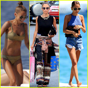 Nicole Richie Wears Bikini, Shops & Lunches in Saint-Tropez!