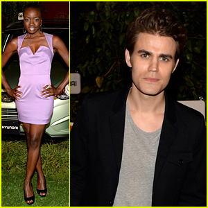 Paul Wesley & Danai Gurira: 'Walking Dead' Comic-Con Party!