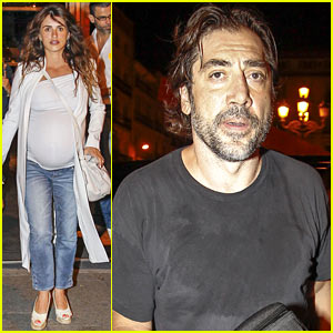 Pregnant Penelope Cruz & Javier Bardem Dine Out with Family!