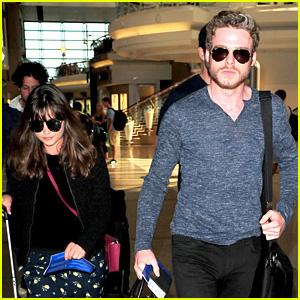 Richard Madden & Jenna Coleman: Lots of Luggage at LAX!