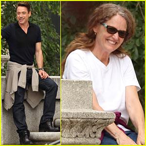 Robert Downey, Jr. & Melissa Leo Share Laugh on 'Judge' Set!
