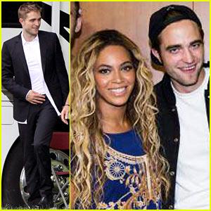 Robert Pattinson & Beyonce Snap Pic at her Concert!