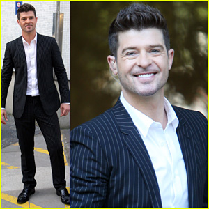 Robin Thicke: 'Blurred Lines' Promo in London!