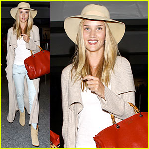 Rosie Huntington-Whiteley: LAX Departure After Jason Statham Lunch Date!