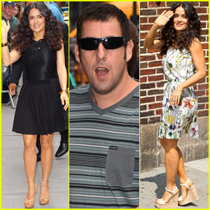 Salma Hayek & Adam Sandler Promote 'Grown Ups 2' Before Premiere!