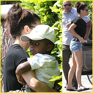 Sandra Bullock & Louis: Levi McConaughey's Birthday Party!