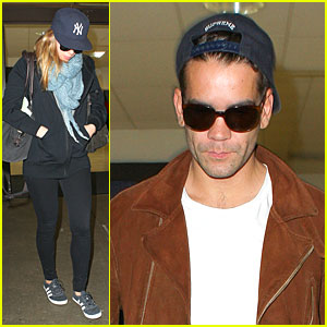 Scarlett Johansson & Romain Dauriac: Backseat Couple at LAX!