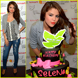 Selena Gomez Celebrates Birthday at Dream Out Loud Event!