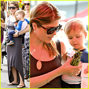 Selma Blair & Arthur Choose Healthy at the Farmer's Market