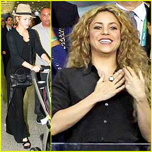 Shakira Supports Gerard Pique at Confederation Cup Final!