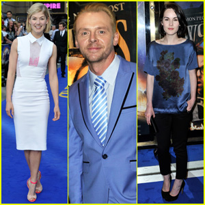 Simon Pegg & Rosamund Pike: 'The World's End' Premiere!