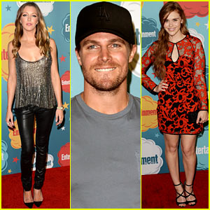 Stephen Amell & Katie Cassidy: 'Arrow' at EW's Comic-Con Party!