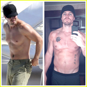 Stephen Amell Flaunts Buff Shirtless Body for 'Arrow' Season 2