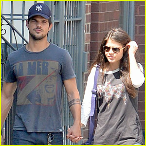 Taylor Lautner & Marie Avgeropoulos Holding Hands as New Couple?
