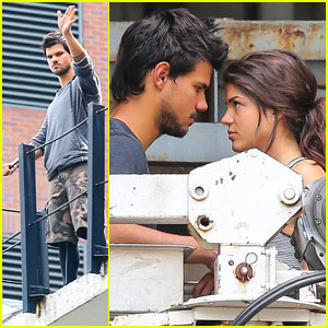 Taylor Lautner & Marie Avgeropoulos: 'Tracers' Romance!