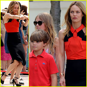 Vanessa Paradis: Set Visit from Lily-Rose & Jack!
