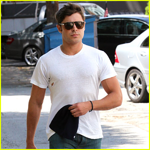 Zac Efron Forgets to Zip His Fly for Business Meeting
