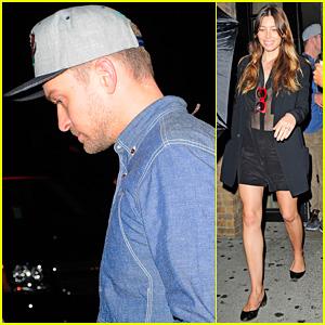 Justin Timberlake & Jessica Biel: Soho Dinner After VMAs 2013!
