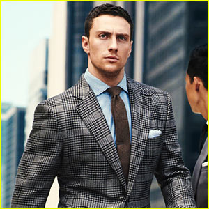 Aaron Taylor-Johnson Models Suits for 'GQ'