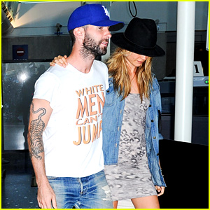 Adam Levine & Behati Prinsloo: LAX Lovebirds!