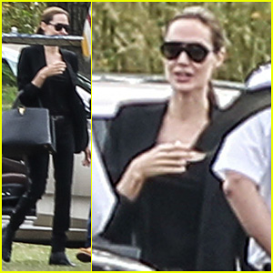 Angelina Jolie: London Polo Field Take Off!