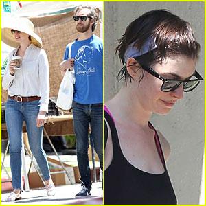 Anne Hathaway & Adam Shulman: Sunday Farmer's Market Run!