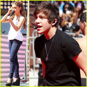 Ariana Grande & Austin Mahone: MTV VMAs Soundcheck!