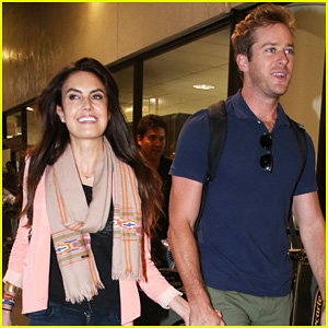 Armie Hammer & Elizabeth Chambers: Post B-Day LAX Arrival!