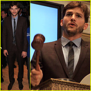 Ashton Kutcher Rings New York Stock Exchange Bell!
