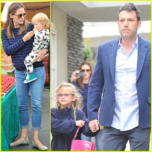 Ben Affleck & Jennifer Garner: Farmer's Market Morning with Violet & Samuel