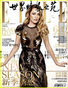 Blake Lively Covers 'Elle China' September 2013