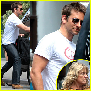 Bradley Cooper Steps Out with Leonardo DiCaprio's Mom!