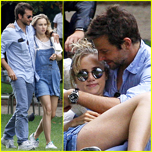 Bradley Cooper & Suki Waterhouse Snuggle in Paris Park!