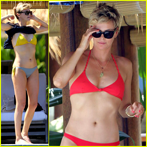 Charlize Theron Rocks Sexy Bikini on 38th Birthday!