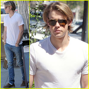 Chord Overstreet Lunches After Returning to 'Glee' Studio