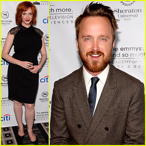 Christina Hendricks & Aaron Paul: Performers Peer Reception!