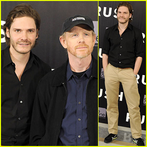 Daniel Bruhl: 'Rush' Madrid Photo Call with Ron Howard!