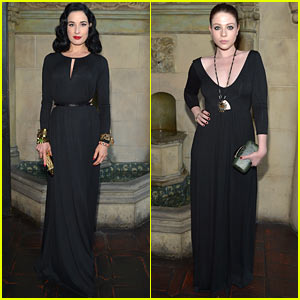 Dita Von Teese & Michelle Trachtenberg: Rachel Pally Collection Party!