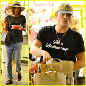 Ed Westwick & Jessica Szohr Shop for Groceries Together
