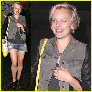 Elisabeth Moss Rocks Denim Daisy Dukes for Dinner!