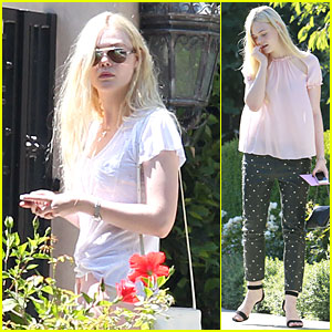 Elle Fanning Visits Friends on the Weekend!