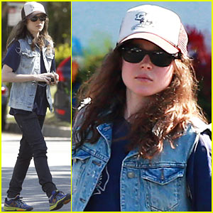 Ellen Page Grocery Shops After 'Caution Tape' Day!
