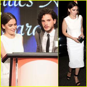 Emilia Clarke & Kit Harington: 'Game of Thrones' Wins Best Drama at TCA Awards 2013