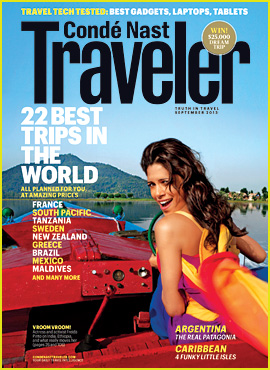 Freida Pinto Covers 'Conde Nast Traveler' September 2013